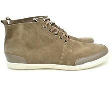 NEW MOSSIMO Mens Brown Tan Leather Suede Lace Up Sneakers Shoes 8.5