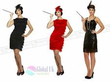 WOMENS LADIES ADULT FRINGE FLAPPER JAZZ 20S 30S FANCY DRESS COSTUME CHARLESTON