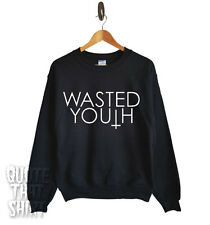 Wasted Youth Sweater Top Sweatshirt Tumblr Unisex All Sizes Band Indie Rock Pop