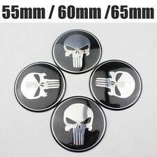 4x Punisher Emblem Car Wheel Center Hub Cap Alloy Cover Stickers 65MM 55MM 60MM