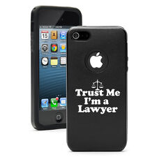 For iPhone 6/6 Plus Aluminum Silicone Hard Case Cover Trust Me I'm A Lawyer