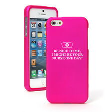 For Apple iPhone 4 4S 5 5S 5c Rubber Hard 2 Piece Case Cover Be Nice To Me Nurse