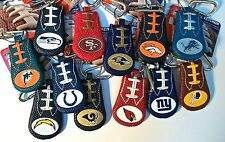 Gamewear Leather Keychain Team Colors & Logo NFL Football Classic