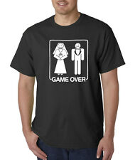 Game Over Wedding Marriage Funny Bachelor Party T-Shirt S-5XL