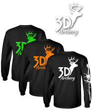 3D Archery Brand Long Sleeve T Shirt,Compound Bow,Recurve,Crossbow,Target,arrow