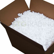 LOOSE FILL PACKING PEANUTS 'S' SHAPE POLYSTYRENE CHIPS 5 10 15 30 60 90 CUBIC