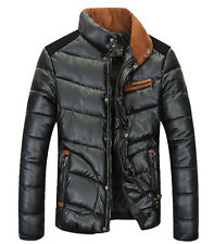 2014 Hot Winter Men's fashion padded jacket collar stitching thick cotton coat