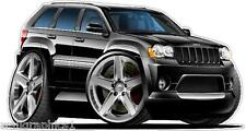 Jeep Grand Cherokee SRT Wall Decal Sticker Poster Graphic Any Color 3 Large Size