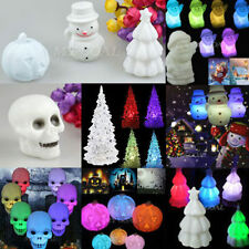 7 Colors Changing Santa Claus Snowman LED Night Light Xmas Home Decoration Gifts
