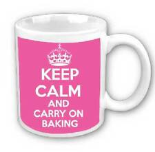Keep calm and carry on baking mug