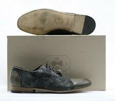 NEW! $428 BRUNO BORDESE MENS GREY DISTRESSED FABRIC WITH BROWN LEATHER LACE UP