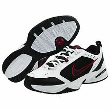NEW Nike AIR MONARCH IV Mens White Black Red Lace Up Running Training Shoes