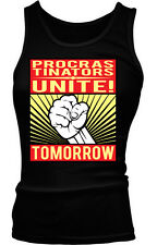 Procrastinators Unite Tomorrow Funny Humor Joke Meme Lazy Boy Beater Tank Top