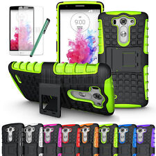 Armor Shockproof Rugged Hybrid Impact Hard Built-in Stand Case Cover+Film