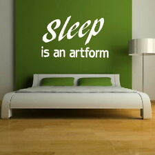 Bedroom Wall Quote Removable interior wall stickers home bed room art decor qu6