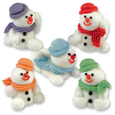3D Sugar Edible Snowman  - Christmas Cupcake / CakeToppers for Decoration