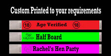 200 CUSTOM BLACK PRINTED TYVEK WRISTBANDS EVENT CLUB BAR PARTY WEDDING BANDS