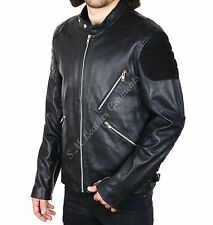New Men's GTA 5 Micheal Gaming CowHide Leather Jacket
