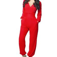 Sexy Women Cocktail Evening Party V Neck LONG SLEEVE Jumpsuit Romper Pants