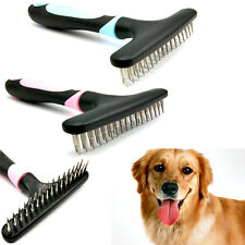Pet Fur Shedding Remove Grooming Rake Comb Brush Dog Cat Long Thick Hair 2 Color