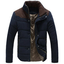 HOT New Men Winter Warm Casual Cotton Padded Coat Slim Fit Down Jacket Overcoat
