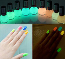 Non-toxic 8ml Fluorescent Nail Polish Varnish Lacquer Paint Glows in dark 12COLO