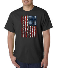 American Flag Distressed Tattered Vintage USA Patriot Glory T-Shirt S-5XL