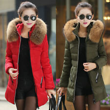 2014 Women Winter Down Jacket Hooded Fur Collar Parka Coat Warm Padded Outerwear