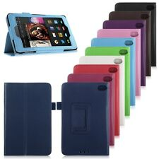 Folding Leather Stand Case Cover Skin For 2014 Amazon Kindle Fire HD 6 7 Tablet