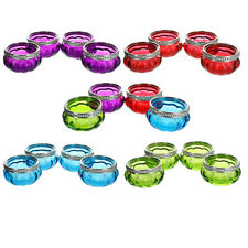 Set of 4 Bright Coloured Glass Tea Light Holders