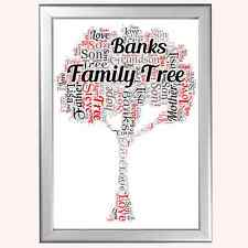 PERSONALISED FAMILY TREE CHRISTMAS XMAS PRESENT FOR HIM OR HER MUM DAD GIFT