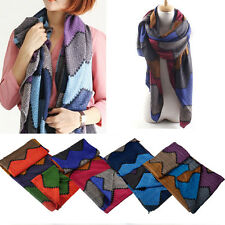 Women Ladies Elegant Fashion Oversized Blanket Multicolor Weave Scarf Wrap Shawl