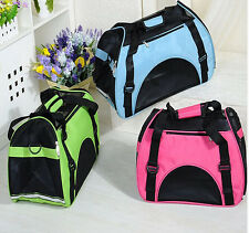 Foldable Pet Dog Cat Mesh Carrier Kennel Portable Puppy Travel Bag Soft Cage