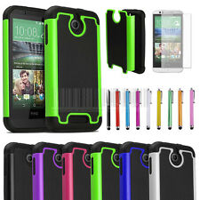 Rugged Armor Heavy Duty Impact Hybrid Hard Case Cover + Film For HTC Desire 510