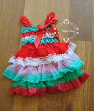 Christmas Xmas Flower Girl Lace Chiffon Dress Princess Baby Party Wedding Gift