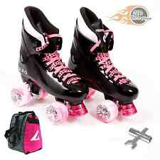 Ventro Pro Turbo Quad Skate, Bauer Style - Pink- With Skate Bag and FREE Spanner