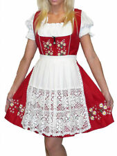 DIRNDL German Trachten Dress Oktoberfest EMBROIDERED SHORT Sun Waitress Party