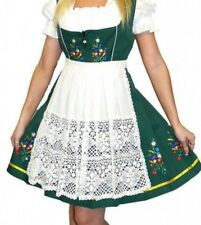 3-Piece SHORT GREEN German Wear Bavarian Trachten Oktoberfest DIRNDL Party Dress