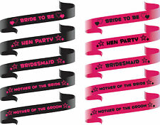 HEN PARTY SASHES GIRLS NIGHT OUT PARTY SASHES PINK & BLACK  WEDDING SASHES (PA)