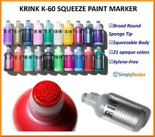 Krink K-60 Squeezable Permanent Paint Markers Qty 1 Round Sponge Tip 60ml