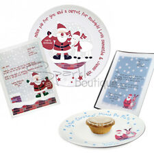 PERSONALISED MINCE PIE PLATE -For Father Christmas/Santa- WITH THANK YOU LETTER!