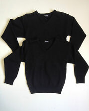 Twin Pack TOP CLASS Black V-neck School Jumpers 11/12 & 13/14 Yrs  BNWT