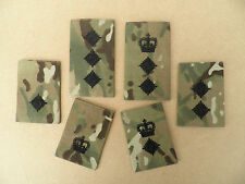 British Army, MTP rank epaulette slides [pair] Officer ranks, new & unissued.
