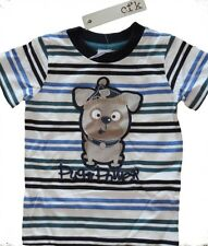 Boys PUG POWER Designer Cotton Shirt ~ Size 1, 2 & 4 ~ New With Tags