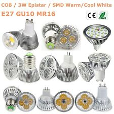GU10 MR16 E27 15W/12W/9W/7W/5W/3W LED Light Bulb Lamp CREE/COB/Epistar Spotlight