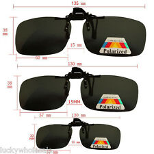 Polarised Clip On Flip Style Sunglasses UV400 Polarized Fishing Eyewear & Case