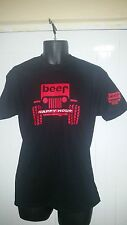 JEEP BEER HAPPY HOUR  SPORT OFF ROAD JEEP T-SHIRT RARE NICE COOL JK JEEP 4X4