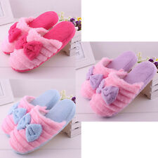 Women Men Lovers Anti slip Slippers Bowknot Indoor Soft Warm Slippers