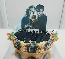 Harry Potter Cake Topper **WAFER**  Edible Decoration Set - Personalised