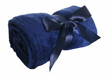 "Classic Solid Color Soft Warm Winter Fleece Home Throw Blankets 42""x60"""